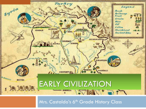 Early Civilization - Edgewater School District