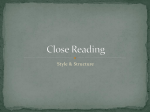 Close Reading - Nutley Public Schools