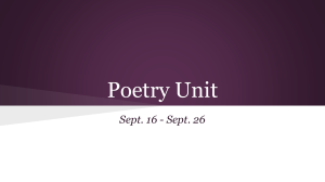 Poetry Unit - Ms. Mills`s English Class