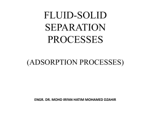 FLUID-SOLID SEPARATION_Adsorption