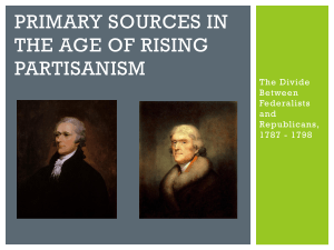 Primary Sources in the age of rising partisanism - fchs