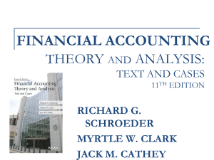 accounting theory: text and readings