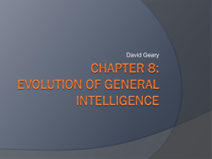 Evolution of General Intelligence