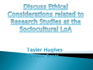 Discuss Ethical Considerations related to