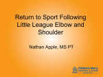 Little League Elbow