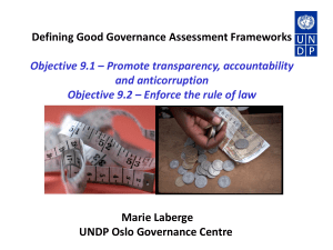 Combating corruption - Governance Assessment Portal