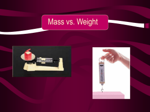Mass vs. Weight