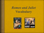 Romeo and Juliet Vocabulary