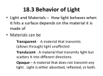 transparent 18.3 Behavior of Light