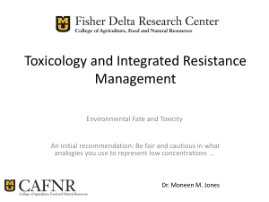 Insecticides and Integrated Resistance Management