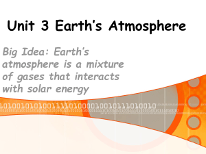 Earth`s Atmosphere