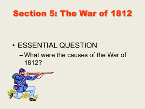 Section 5: The War of 1812