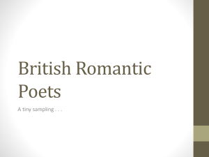 British Romantics powerpoint