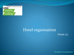 Hotel organisation - Accommodation Services