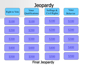 Chapter 6 Jeopardy Review
