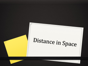 Distance in Space and the Birth of Stars
