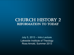 Church History 2 - Lakeside Institute of Theology