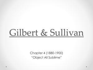 Gilbert and Sullivan - Emporia State University