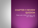 Chapter 9 Review quizdom