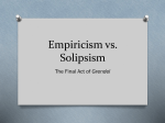Empiricism vs. Solipsism