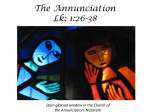 The Annunciation Lk: 1:26-38