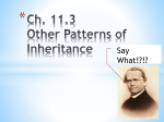 Ch. 11.3 Other Patterns of Inheritance