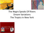 The negro speaks to rivers dream variations the tropics in