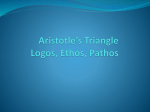 Aristotle*s Rhetorical Triangle Jonathan Edwards *Sinners in the