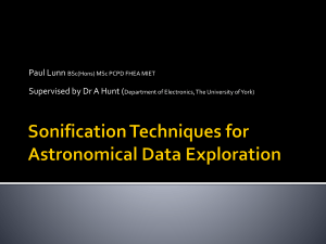 Paul Lunn: Sonification Techniques for Astronomical Data Exploration