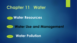 Chapter 11 Water Water Resources Water Use and Management