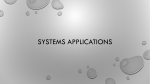 Systems Applications with Notes