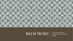 Role of the Poet