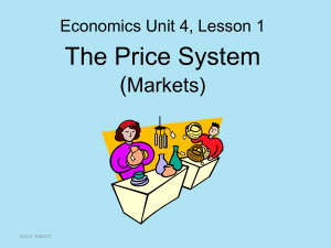 The Price System (Markets)