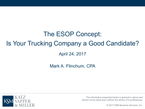 The ESOP Concept: Is Your Trucking Company A