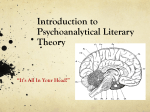 Intro to Psychoanalytic Literary Theory