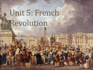 Unit 5: French Revolution