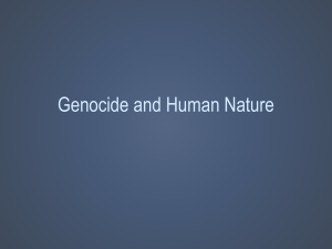 Humanities and Human Nature