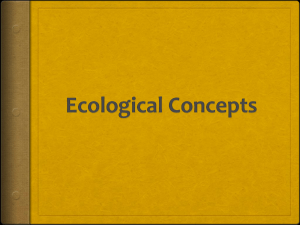 Ecological Concepts Carrying Capacity