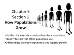 Chapter 5 Section 1 How Populations Grow