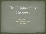 The Origins of the Hebrews