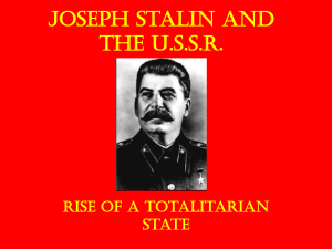 The Stalin Years - extra ppt File