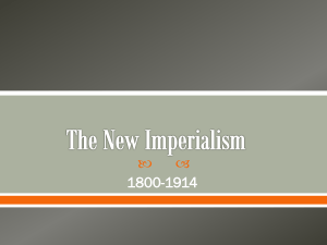 The New Imperialism - Rowan County Schools