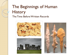 The Beginnings of Human History