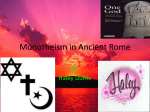 Monotheism in Ancient Rome
