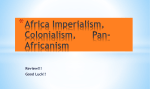 Africa Imperialism, Colonialism, Pan-Africanism