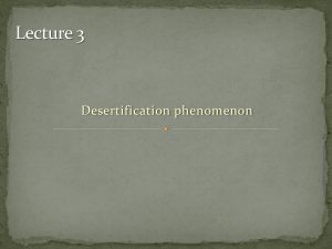 Advance desertification_Lecture 3