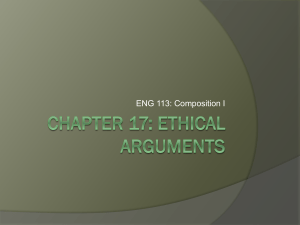 Chapter 17: Ethical Arguments