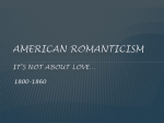 American Romanticism It*s not about love - Tri