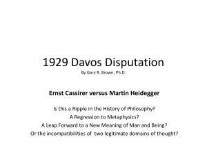 1929 Davos Disputation - The Dallas Philosophers Forum