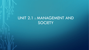 Management and society